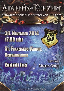 Plakat Adventskonzert 2014